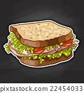 sandwich, color picture sticker 22454033