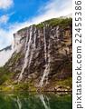 峡湾 挪威 瀑布 22455386