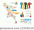 Sports Template Design Infographic . concept  22456524