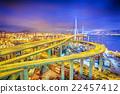 hong kong modern city High speed traffic  22457412