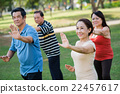 Exercising Vietnamese seniors 22457617