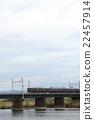 river, katsura river, electric train 22457914