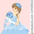 妇女蓝色礼服(蓝色)新娘/新娘背景颜色礼服 22458032