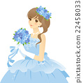 Blue dress female color dress (blue) bride / bride background transparent 22458033