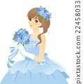蓝色礼服女性颜色礼服(蓝色)新娘/新娘背景透明 22458033