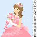 新娘的例证婚礼礼服(桃红色)有背景 22458034