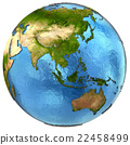 Asian continent on Earth 22458499