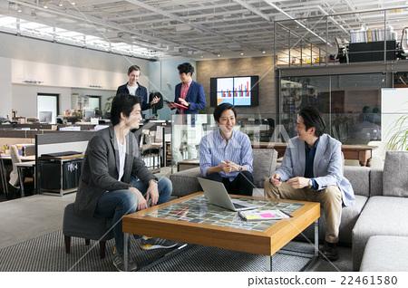 A man who makes a meeting 22461580