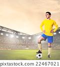 soccer or football player on stadium 22467021