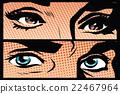 eye, eyes, female 22467964