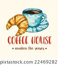커피, 크로와상, 식품 22469282