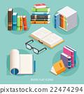 Book Flat Icons Set. Vector Illustration. 22474294