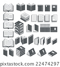 Book icons set. Vector Illustration. 22474297