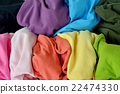 Background messy colorful clothes 22474330