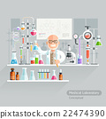 Professor Working on Medical Laboratory. 22474390
