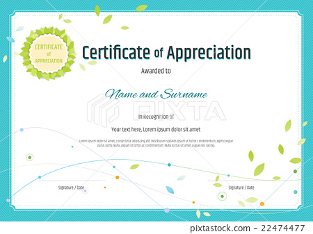 Certificate of appreciation template nature theme 22474477