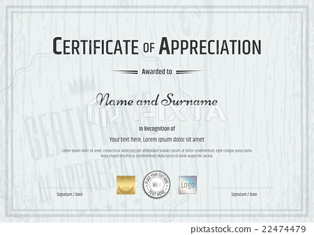 Certificate of appreciation template stock illustration certificate of appreciation template yadclub Images