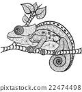 Chameleon doodle 22474498