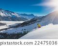 girl in off-piste skiing 22475036