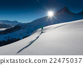 girl in off-piste skiing 22475037