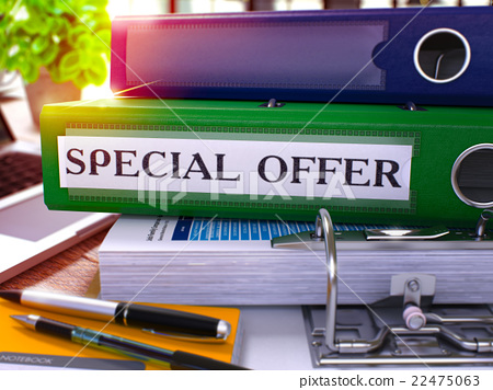 Green Office Folder with Inscription Special Offer 22475063
