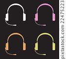 Vector illustration set of color headphones with 22475223