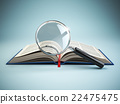 Library search. Loupe and book. Education 22475475