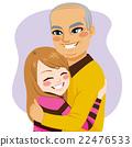 Girl hugging Grandfather 22476533