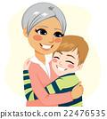 Boy hugging Grandmother 22476535