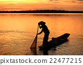 Fishermen can fish the golden morning light 22477215