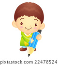 The boy Mascot with a Pencil writing. Korean  22478524