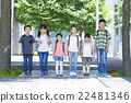 户外小学学生 22481346