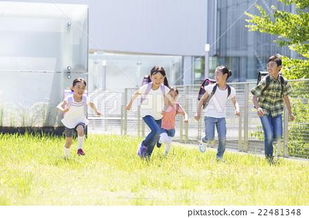 Outdoor elementary school student 22481348