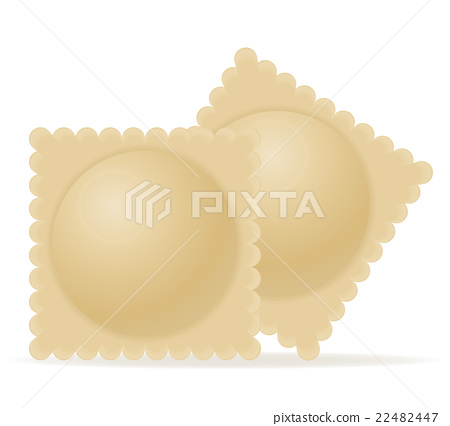 dumplings ravioli of dough with a filling vector 22482447