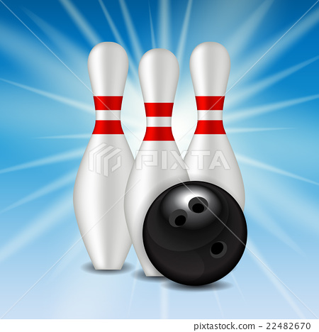 Skittles and Bowling Ball Background 22482670