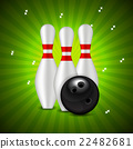 Skittles and Bowling Ball Background 22482681