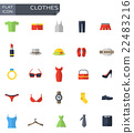 Vector flat clothes icons set 22483216