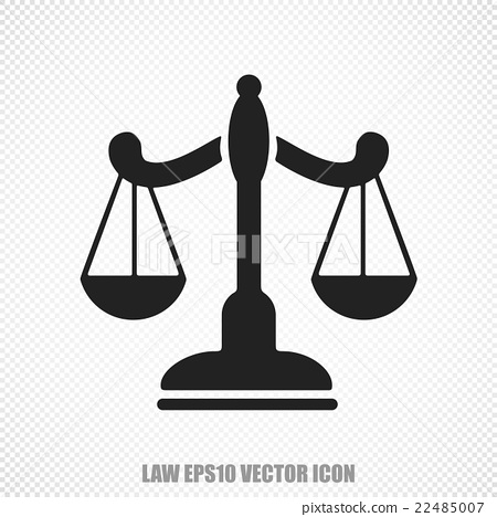 Law vector Scales icon. Modern flat design. 22485007