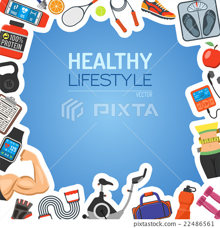 Healthy Lifestyle Background 22486561