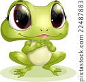 frog smile cartoon 22487883