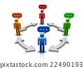 溝通 交流 混合 22490193