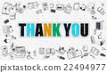 Thank You Concept with Doodle Design Icons. 22494977
