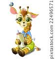 Cute baby giraffe 22496571