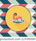 Chinese New Year flat icon with long shadow,eps10, Chinese Chick 22496684