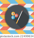 billiards flat icon with long shadow,eps10 22499634