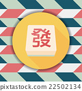 Chinese mahjong flat icon with long shadow,eps10 22502134