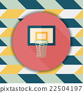 basketball flat icon with long shadow,eps10 22504197