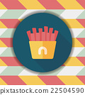french fries flat icon with long shadow,eps10 22504590