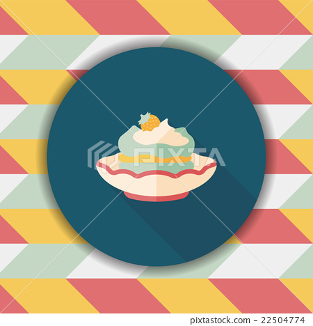 cake flat icon with long shadow,eps10 22504774