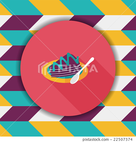 cake flat icon with long shadow,eps10 22507374